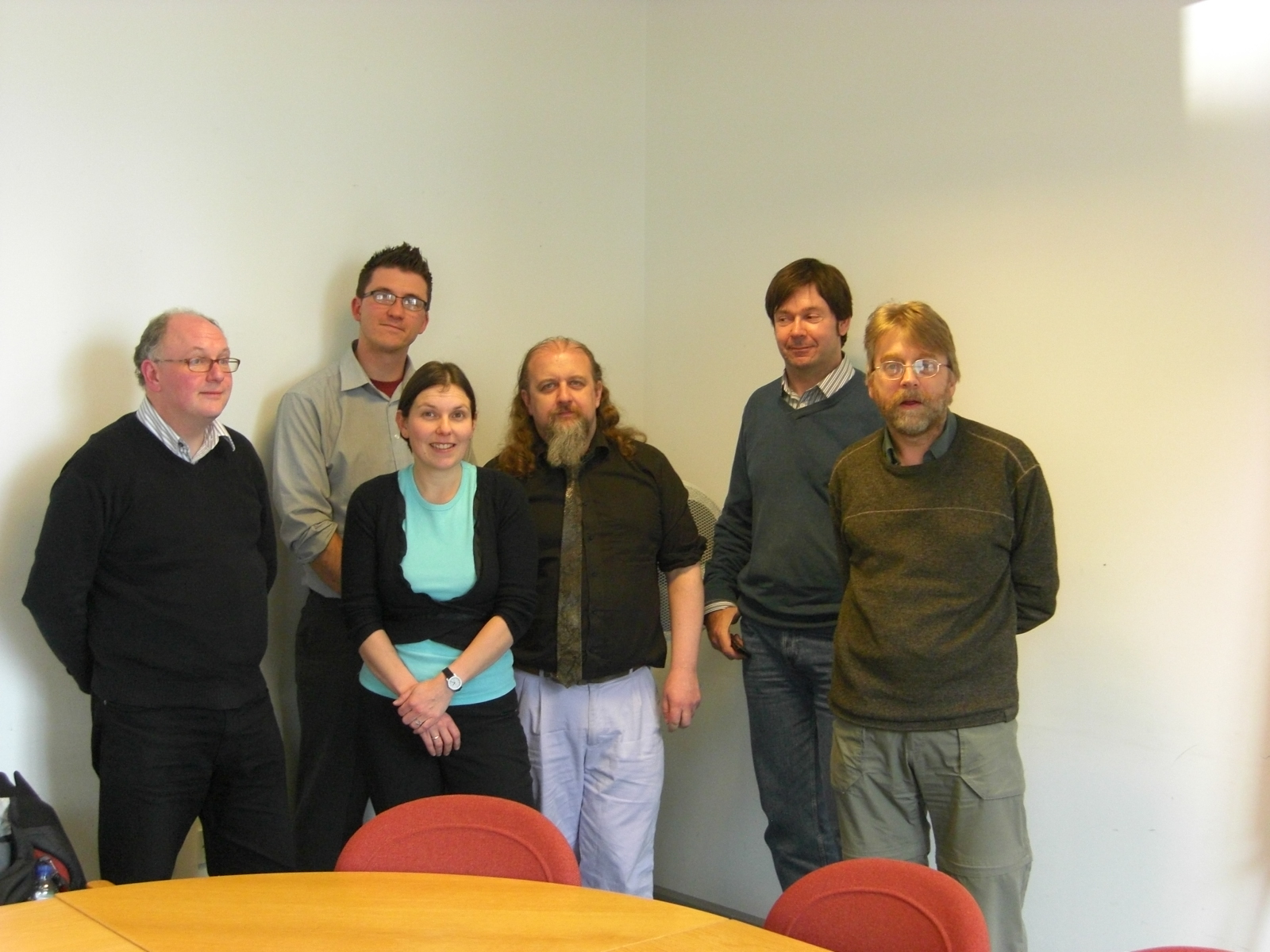 Project team at the launch meeting on 1 May 2008